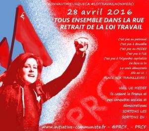 Manifestation le 28 avril : les tracts du PRCF #luttedesclasses #manif28avril #JourDebout