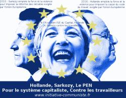 hollande sarkozy le pen UE UMPEN