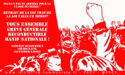 loi travail retrait grève générale manif nationale