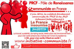 #5juin Les MILITANTS FRANCHEMENT COMMUNISTES du PRCF et des JRCF s'adressent fraternellement à la FRANCE INSOUMISE #franceinsoumise