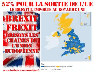 52% : Le BREXIT et la démocratie gagnent, en France exigeons un referendum pour la sortie de l'UE #résultats #Brexit