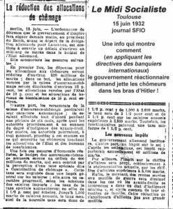 Mesures anti chômeurs et réduction des allocations chômages : le retour aux méthodes des années 1930