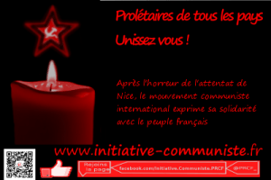 #NiceAttentat Le mouvement communiste international solidaire du peuple français.