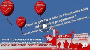 Stand du PRCF à la #fêtedelHumanité 2016 : le #clip #programme
