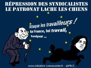 Soutien à M Pontier, leader des JC de la Loire condamné dans un procès politique par une justice de classe #JRCF