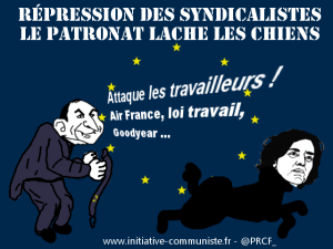 Répression : la violence du gouvernement des patrons ne cesse de grandir #loitravail #AirFrance #jesuisCGT
