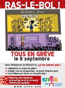 Hollande, vite un 49/3 pour casser le lycée! – Par Floréal #reformeducollège #greve8sept