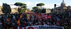 Grève générale en Italie. Pour le NON à l'euro reforme constitutionnelle Renzi mobilisation avec le Fronte Popolare !