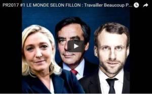 #vidéo Le Monde selon #fillon #macron et #lepen : travailler beaucoup plus Obtenir beaucoup moins #salaire #sécu #retraites