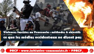 Venezuela : la droite mène une attaque terroriste, et s'en prend aux journalistes.