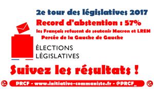 #législatives2017 : 57% d'abstention, les Français refusent de soutenir Macron et LREM, Percée de la gauche de gauche