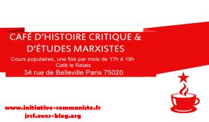 2e café d'histoire critique et d'études marxistes : partagez les vidéos !