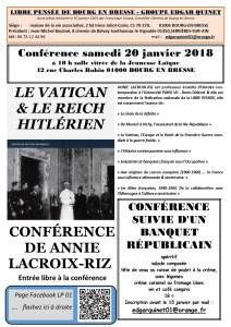 Le Vatican et le Reich hitlérien – conférence d'A Lacroix-Riz [20/01 – Bourg en Bresse]