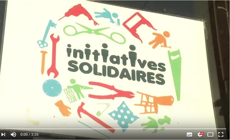 Maxcîme Bréchet à la rencontre d'Initiatives Solidaires