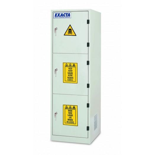 armoire de stockage produits chimiques et corrosifs 3 portes