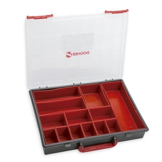 caisse de rangement avec anse 13 compartiments amovibles dogher tools