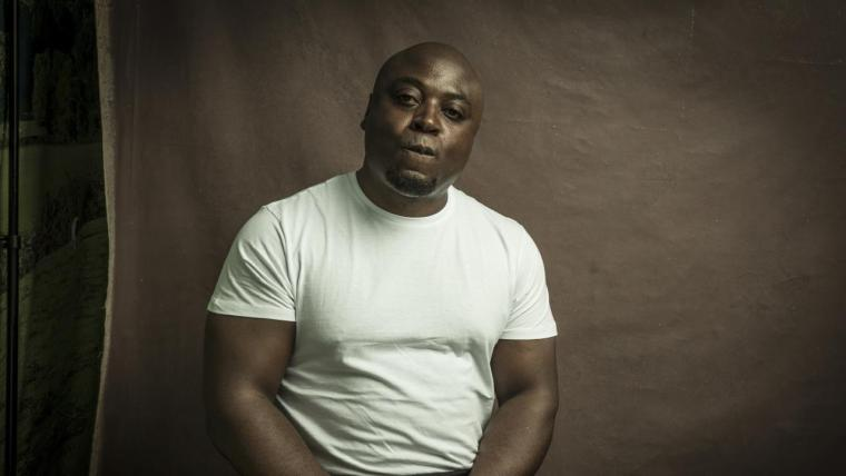 Eric Ngalle Charles. Photo by Paul Musso at Hay Festival.