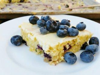 Blueberry Lemon Zucchini Sheet Cake