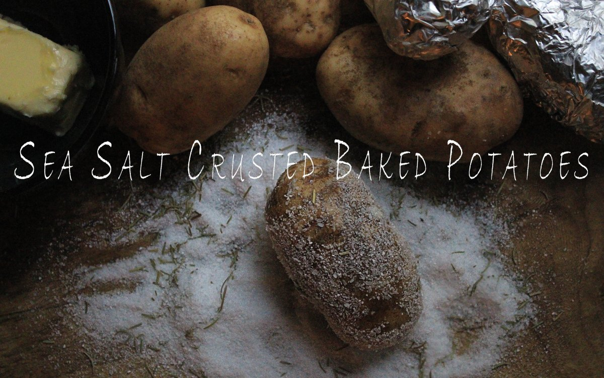Sea salt crusted baked potatoes ccuart Image collections