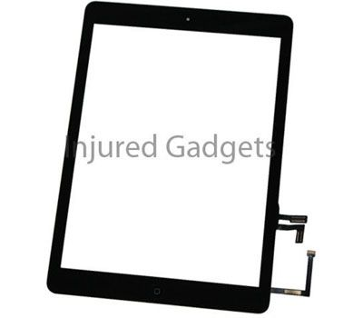 for iPad Air Black Touch Screen Glass Digitizer Home