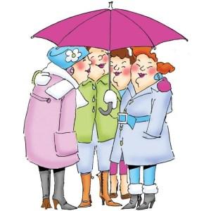 Art Impressions Girlfriends Cling Rubber Stamp – Under My Umbrella