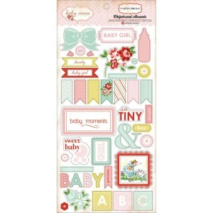 Baby Mine Girl Chipboard Accents 6″X13″