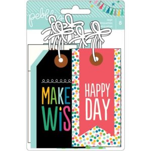 Birthday Wishes Cardstock Tags 8/Pkg