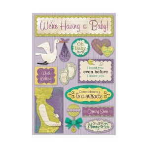 Cardstock Stickers – We're Having A Baby!