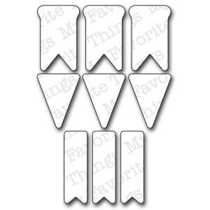 Die-Namics Dies – Bitty Banners, 1.2″ To 1.6″