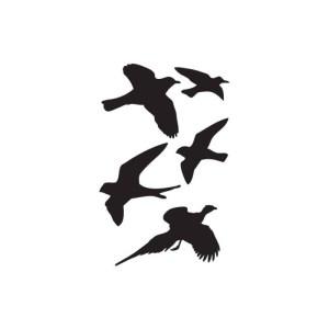 Dina Wakley Masks – Birds 6″X9″