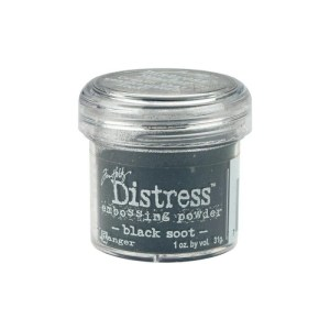 Distress Embossing Powder 1oz – Black Soot / Charred Effect