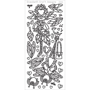 Dragonfly Ladies 2 Peel-Off Stickers – Black
