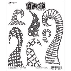 Dyan Reaveley's Dylusions Cling Stamp Collections 8.5″X7″ – Doodle Delight