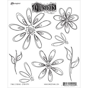 Dyan Reaveley's Dylusions Cling Stamp Collections 8.5″X7″ – Fancy Florals