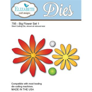 Elizabeth Craft Metal Die – Big Flower Set 1