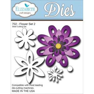 Elizabeth Craft Metal Die – Flower Set 2