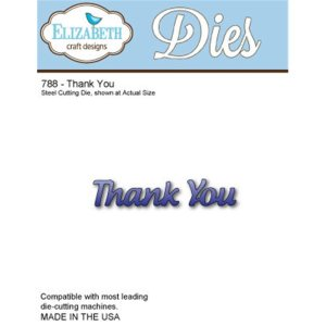 Elizabeth Craft Metal Die – Thank You