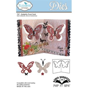 Elizabeth Craft Pop It Up Metal Dies By Karen Burniston – Butterfly Pivot Card