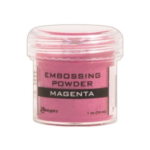 Embossing Powder .56oz Jar – Magenta