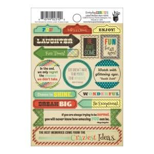 Everyday Circus Label Stickers 4″X6″