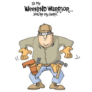 Father's Day Cling Rubber Stamp 5″X4″ – Weekend Warrior