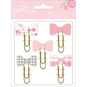 Girl Paper Clips With Bows – Special Delivery – Pebbles