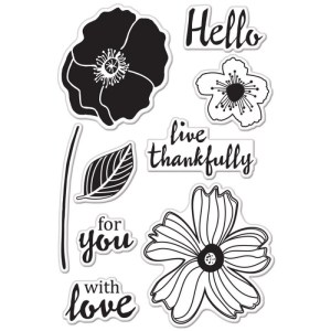 Hero Arts Clear Stamps – Hello Flowers