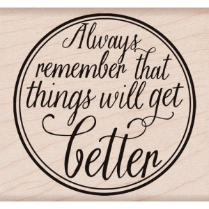 Hero Arts Mounted Rubber Stamps 3.25″X3.25″ – Get Better