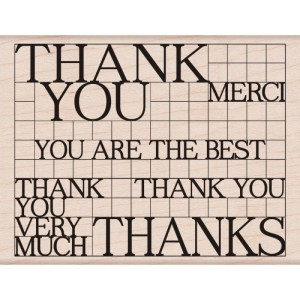 Hero Arts Mounted Rubber Stamps 4.25″X3.25″ Thank You Block