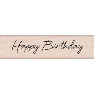 Hero Arts Mounted Rubber Stamps .5″X3″ – Little Greetings Happy Birthday