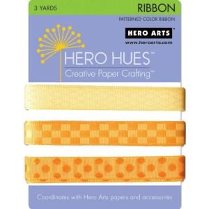 Hero Hues Ribbon 1yd 3/Pkg – Sunshine