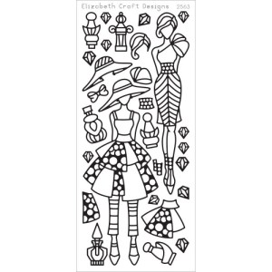 Jackie's Dolls 1 Peel-Off Stickers – Black