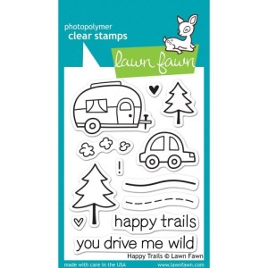 Lawn Fawn Clear Stamps 3″X4″ – Happy Trails