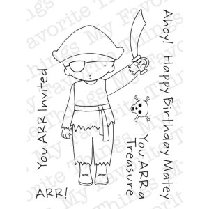 My Favorite Things Pure Innocence Stamps 3″X4″ Sheet – Pirate Boy